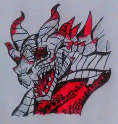 Skyrim dragon by FoxyMirage526
