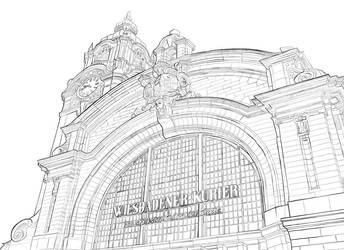 Trainstation Wiesbaden by Thurosis