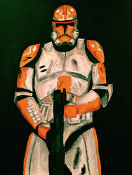 332nd Battalion Clone Trooper (painting)  by JOSHRAMBO123
