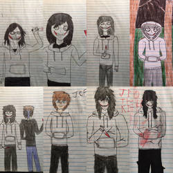 Really old Jeff the Killer drawings (2013-14) by JOSHRAMBO123