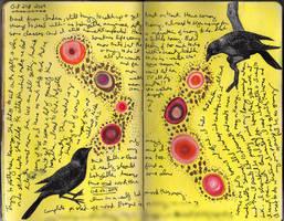 Art Journal - Bird Circles by QueenofCupcakes