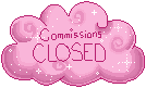Pink Cloud Status Stamp: Commissions Closed by frostykat13
