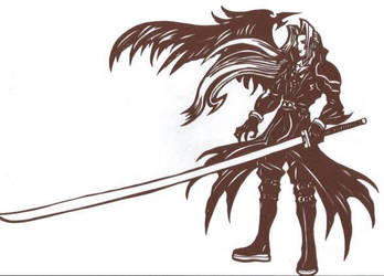 Sephiroth from FFVII Papercut by UsagiSM20Papercuts