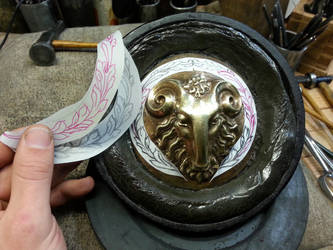 Rams head door knob by TimeTurbine