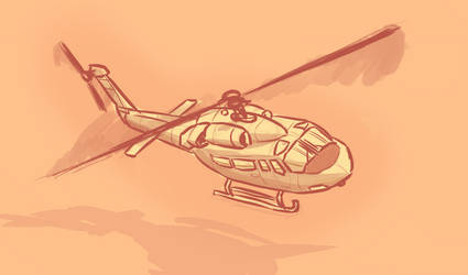 Heli doodle by Malnu123