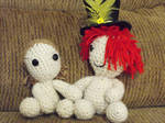 Crochet Lucia and Grimm by Boshedagh