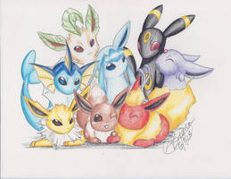 All the Eevees by LilliM00