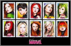 WOMEN OF MARVEL Series II B by S-von-P
