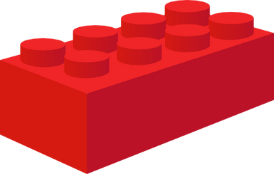 Red Toy Brick Commission for Pokezombie by Kinnichi