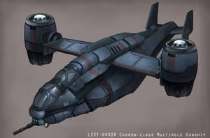 VTOL Gunship by leonwoon
