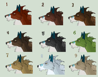 Wolf Head Options by J-Dove