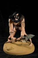 The Caveman - painted01 by clarkartist