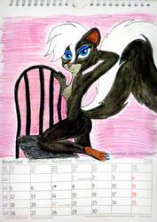 Courtney Brushmarke 2018 calendar- November by brainbow97