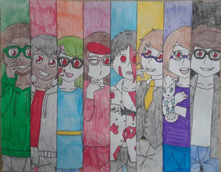 Me and Friends As Evil or Gone Despair by Pachigirl1