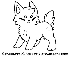 Puppy Lineart READ THE RULES!! by StrawberrySplatters