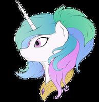 Princess Celestia alternative haircut by Kirr12