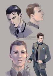 more Connor sketches by LaraYokoshima