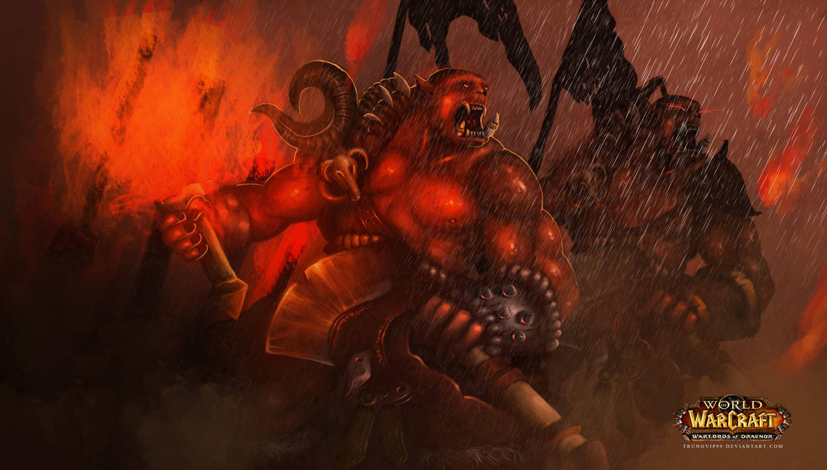 World Of Warcraft Fanart Orc by trungvip99