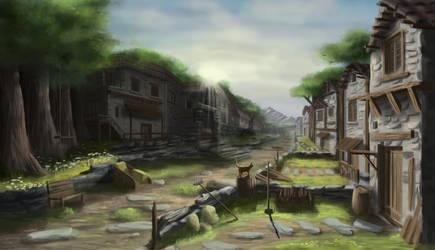 calm village by Mrpaunchno
