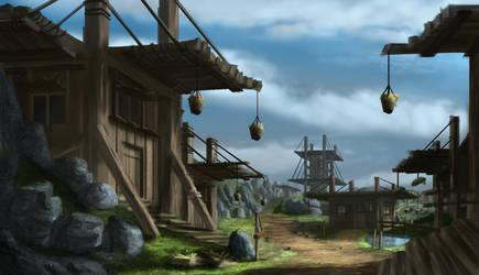 Wooden village by Mrpaunchno