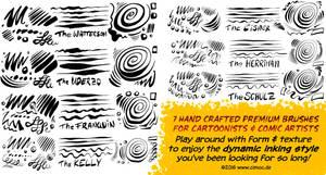Procreate Comic and Cartoon Ink Set 1 by georgvw