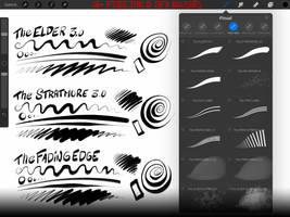 FREE Procreate INK + SFX Brush Set: 16+ Brushes by georgvw