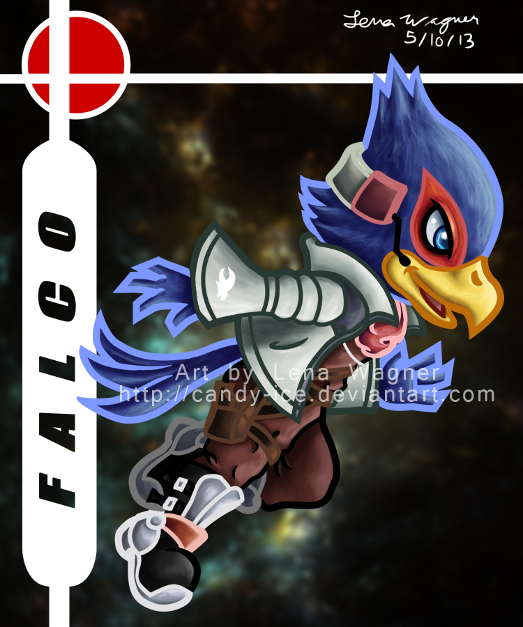 Brawl Chibis - Falco by Candy-Ice