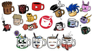 Drawfee Mugs by GoldenYak9753