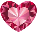 Pink Crystal Heart Vector 1 by Anisa-Mazaki