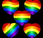 Rainbow Hearts Vector 1 by Anisa-Mazaki