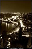 Verona Adige river lights by Brompled