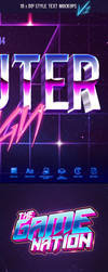 80's Style Text Mockups V1 by GraphicAssets