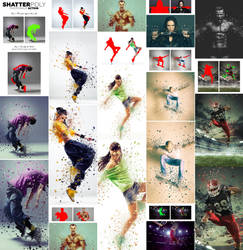 ShatterPoly Photoshop Action by GraphicAssets