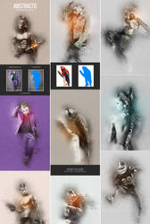 Abstracto - Photoshop Action by GraphicAssets