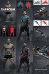 Charcoal Photoshop Action by GraphicAssets