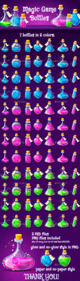 Magic Poison Game Icons Set by GraphicAssets