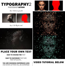Typography 2 Photoshop Action by GraphicAssets