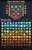 Spells and Skills Icons by GraphicAssets