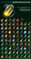 Magic Bottles Icons by GraphicAssets