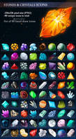 Stones and Crystals Icons by GraphicAssets