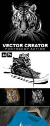Vector Creator Photoshop Action by GraphicAssets