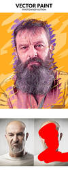 Vector Paint Photoshop Action by GraphicAssets