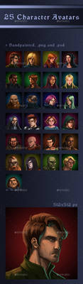 25 Character Avatars by GraphicAssets
