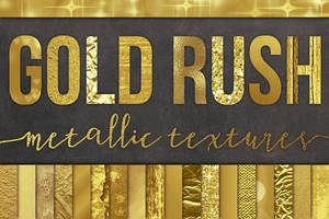 28 Gold Foil Textures / Backgrounds by GraphicAssets