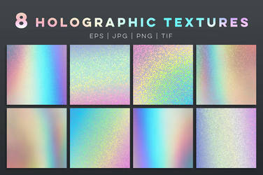 8 holographic textures and templates by GraphicAssets