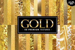40 Premium GOLD Textures by GraphicAssets