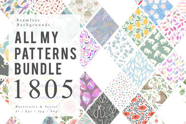 1805 Patterns Bundle by GraphicAssets