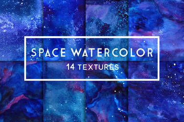 Space watercolor textures by GraphicAssets