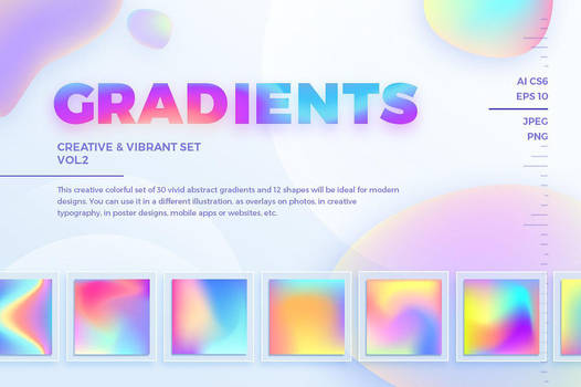 Creative and Vibrant Gradients. Vol.2 by GraphicAssets