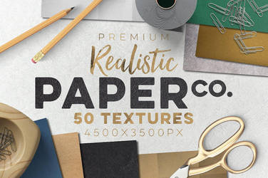 50 Paper Textures Set by GraphicAssets
